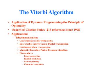 The Viterbi Algorithm