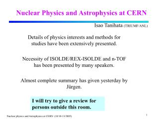 Nuclear Physics and Astrophysics at CERN