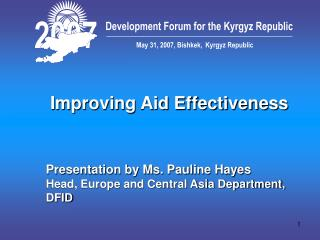 Improving Aid Effectiveness