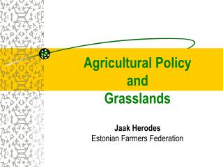 Agricultural Policy  and  Grasslands