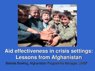 Aid effectiveness in crisis settings:  Lessons from Afghanistan