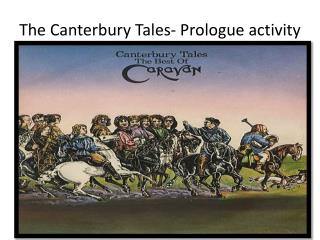 The Canterbury Tales- Prologue activity