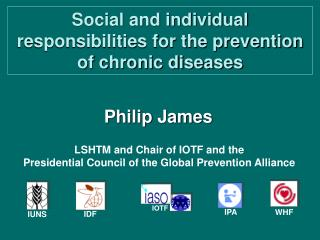 Social and individual responsibilities for the prevention of chronic diseases