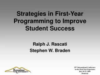 Strategies in First-Year Programming to Improve Student Success