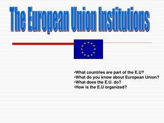 The European Union Institutions