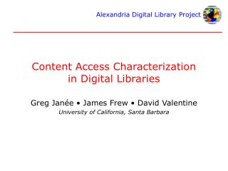 Content Access Characterization in Digital Libraries