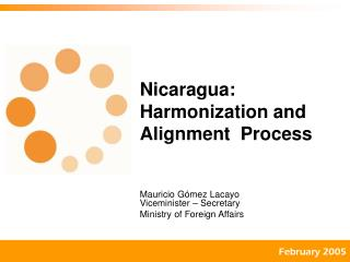 Nicaragua: Harmonization and Alignment  Process