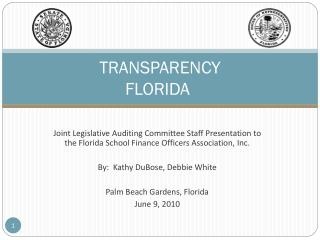 TRANSPARENCY     FLORIDA