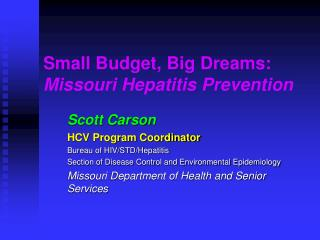 Small Budget, Big Dreams:   Missouri Hepatitis Prevention