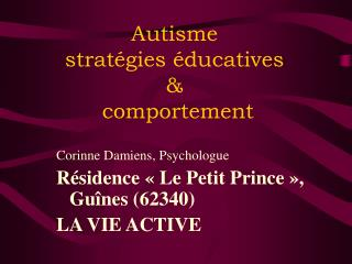 Autisme  strat gies  ducatives    comportement
