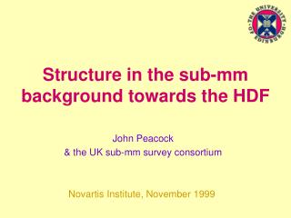 Structure in the sub-mm background towards the HDF