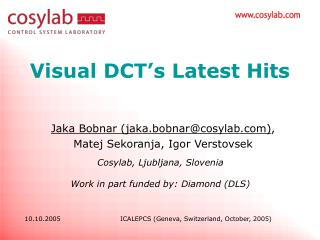 Visual DCT's Latest Hits