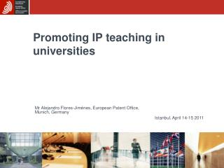 Promoting IP teaching in universities