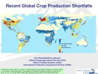 Recent Global Crop Production Shortfalls