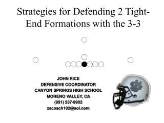 Strategies for Defending 2 Tight-End Formations with the 3-3