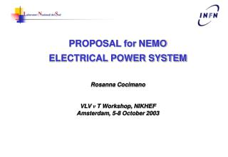 PROPOSAL for  NEMO ELECTRICAL POWER SYSTEM