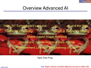 Overview Advanced AI