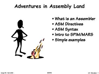 Adventures in Assembly Land