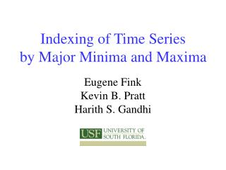 Indexing of Time Series by Major Minima and Maxima