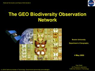 The GEO Biodiversity Observation Network