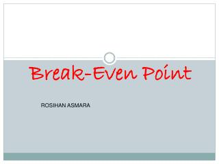 Break-Even Point