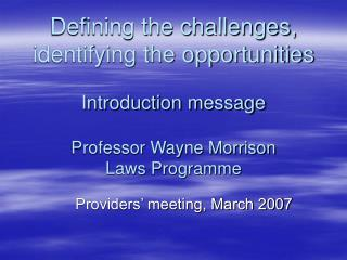 Providers' meeting, March 2007