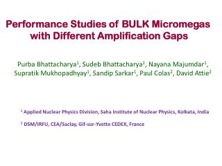 Performance Studies of BULK Micromegas with Different Amplification Gaps