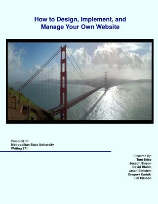 How to Design, Implement, and Manage Your Own Website