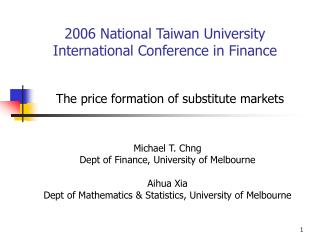 2006 National Taiwan University International Conference in Finance