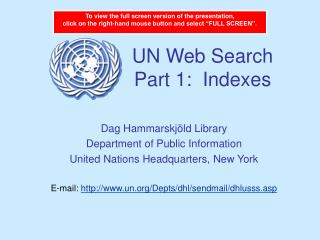 UN Web Search