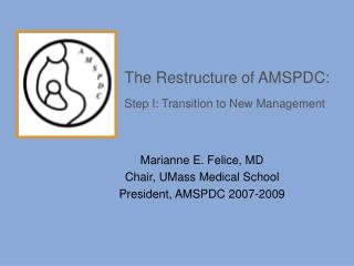 The Restructure of AMSPDC: Step I: Transition to New Management