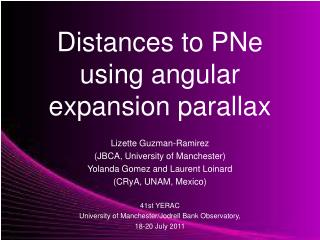 Distances to PNe  using angular  expansion parallax