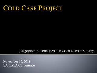 Cold Case Project