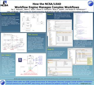 How the NCSA/LEAD Workflow Engine Manages Complex Workflows