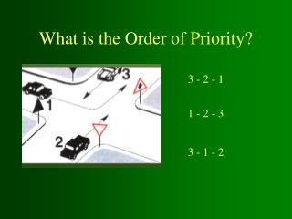 What is the Order of Priority?