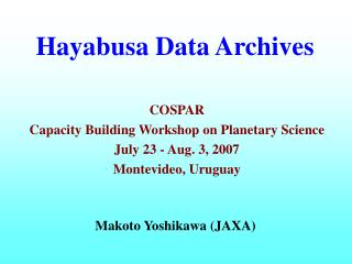 Hayabusa Data Archives