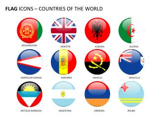 FLAG  ICONS – COUNTRIES OF THE WORLD
