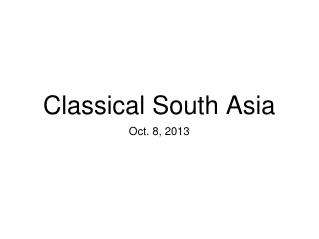 Classical South Asia