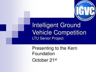 Intelligent Ground Vehicle Competition LTU Senior Project