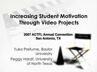 Increasing Student Motivation Through Video Projects