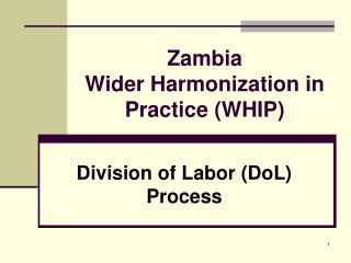 Zambia Wider Harmonization in Practice (WHIP)