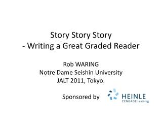 Story Story Story - Writing a Great Graded Reader