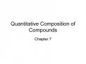 Quantitative Composition of Compounds