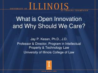 What is Open Innovation and Why Should We Care?