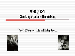 WEB QUEST Smoking in cars with children
