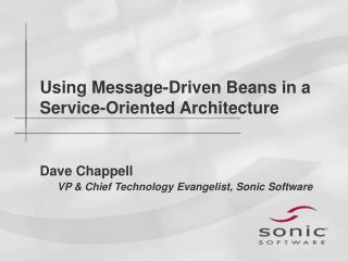 Using Message-Driven Beans in a Service-Oriented Architecture