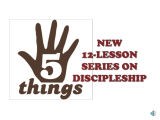 The Process of Making Disciples Mark 8:11-26