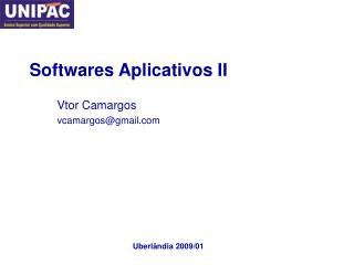 Softwares Aplicativos II