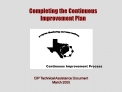 CIP Technical Assistance Document March 2005