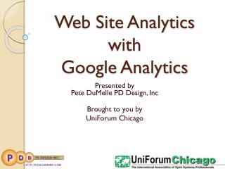 Web Site Analytics  with  Google Analytics
